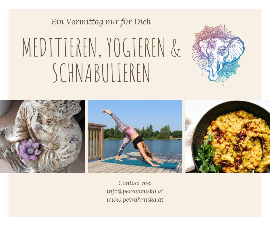 MEDITIEREN, YOGIEREN & SCHNABULIEREN  Tauche ein in die Welt des Yogas und genieße einen Vormittag nur für Dich!